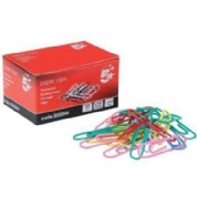 5 Star Office Paperclips - Assorted Colours 33mm (Pkd 100)